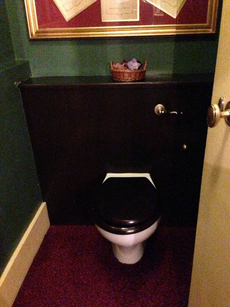 And finally, behind the Royal Box, the Royal Toilet - no kidding.