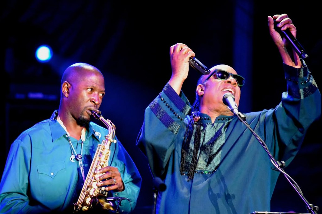 Stevie Wonder and Ryan Kilgore. Photo: Andrew Lustig