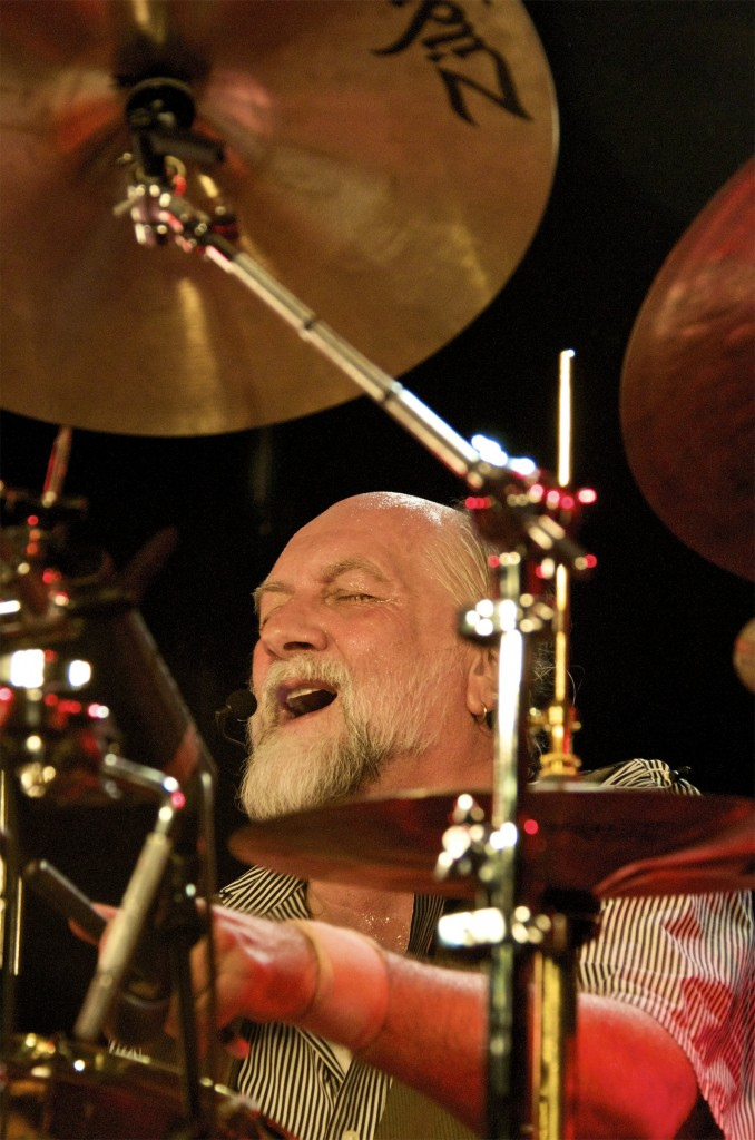Mick Fleetwood at work. Photo: Jonathan Todd